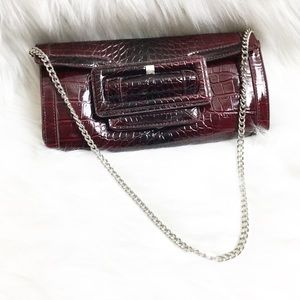 White house black market clutch with chain purse